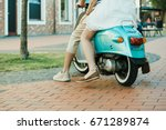 cropped shot of casual couple... | Shutterstock . vector #671289874