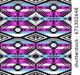 retro colors tribal vector...   Shutterstock .eps vector #671302648