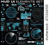 set of futuristic graphic user... | Shutterstock .eps vector #671316520