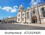 the jeronimos monastery or... | Shutterstock . vector #671319400