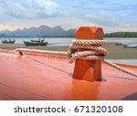 claose up   rope knot on orange ...