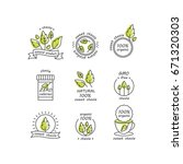 vector set of stevia labels ... | Shutterstock .eps vector #671320303