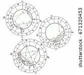 set coloring natal astrological ... | Shutterstock .eps vector #671320453