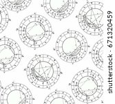 seamless pattern coloring natal ... | Shutterstock .eps vector #671320459