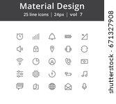 material design line icons