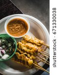 Small photo of FOOD : Thai style grilled pork sticks / Moo Satay