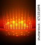 digital equalizer. vector... | Shutterstock .eps vector #671331898