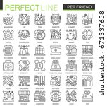pet friend outline concept... | Shutterstock . vector #671337658