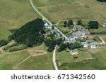 Small photo of aerial view of a little village on the island of Belle-Ile in France