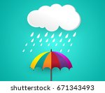 clouds and storm   rainy days ... | Shutterstock .eps vector #671343493