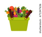 fresh organic food. vector.... | Shutterstock .eps vector #671347636