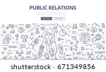 doodle vector illustration of a ... | Shutterstock .eps vector #671349856