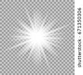 glowing light effect on... | Shutterstock . vector #671350306