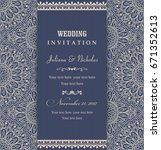 wedding invitation cards... | Shutterstock .eps vector #671352613