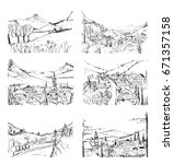 remarkable georgian landscapes...   Shutterstock .eps vector #671357158