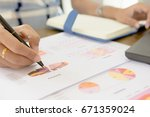 businessman check seriously... | Shutterstock . vector #671359024