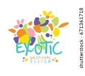 exotic logo original design... | Shutterstock .eps vector #671361718