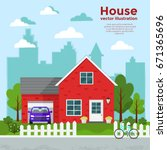 house vector illustration.  | Shutterstock .eps vector #671365696