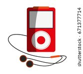 portable music player with... | Shutterstock .eps vector #671377714