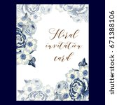 vintage delicate invitation...   Shutterstock .eps vector #671388106