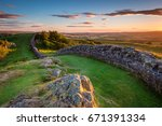 Hadrian's Wall Near Sunset At...