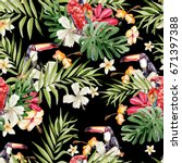 bright colorful watercolor... | Shutterstock . vector #671397388