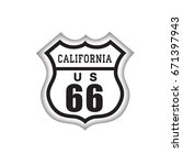 travel usa sign. route 66 label ... | Shutterstock .eps vector #671397943