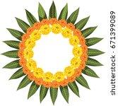 flower rangoli vector for... | Shutterstock .eps vector #671399089