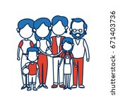 cute family people together in... | Shutterstock .eps vector #671403736