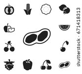 set of 12 editable kitchenware...