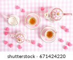 Small Tea Set In Pink....