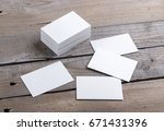 photo of business cards....   Shutterstock . vector #671431396