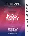 music party edm sound triangle... | Shutterstock .eps vector #671438239