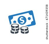 cash money icon | Shutterstock .eps vector #671439358