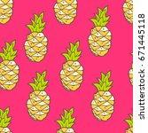 vector seamless summer pattern...   Shutterstock .eps vector #671445118