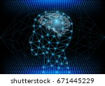 abstract digital and technology ... | Shutterstock .eps vector #671445229