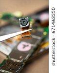smartphone camera detached ... | Shutterstock . vector #671463250