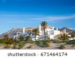 a luxury apartment and villa...   Shutterstock . vector #671464174