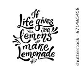 if life gives you lemons make... | Shutterstock .eps vector #671465458