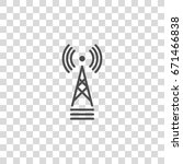 communication tower vector icon | Shutterstock .eps vector #671466838