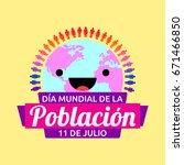 dia mundial de la poblacion ...   Shutterstock .eps vector #671466850
