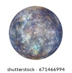 planet mercury isolated. 3d... | Shutterstock . vector #671466994