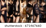 set of beautiful sexy and young ... | Shutterstock . vector #671467660