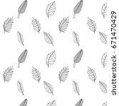palm leaves seamless pattern... | Shutterstock .eps vector #671470429