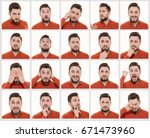 making facial expressions | Shutterstock . vector #671473960