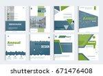 business brochure cover design... | Shutterstock .eps vector #671476408