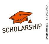 scholarship. vector hand drawn...   Shutterstock .eps vector #671483914