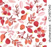 vector seamless pattern of red... | Shutterstock .eps vector #671487040