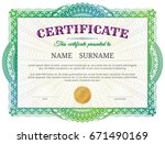 certificate template with... | Shutterstock .eps vector #671490169