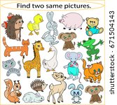 find two same pictures ...   Shutterstock .eps vector #671504143